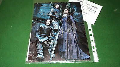 game of thrones cast by 3 SIGNED PHOTO COA b