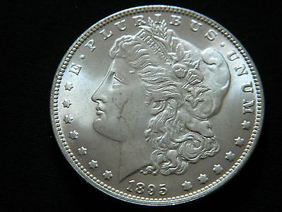 1895 Morgan Dollar Two Face Coin --INV84