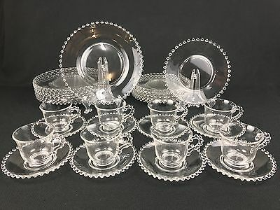 Imperial Glass Candlewick 32-Piece Set for EIGHT Beaded Edge