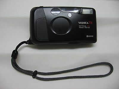 Kyocera Yashica T4 35mm Point & Shoot FILM CAMERA - Carl Zeiss T* Tessar Lens