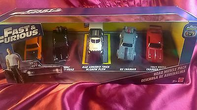 Fast And Furious Road Muscle Pack 5 Exclusive F8 Movie Vehicles Diecast Mattel