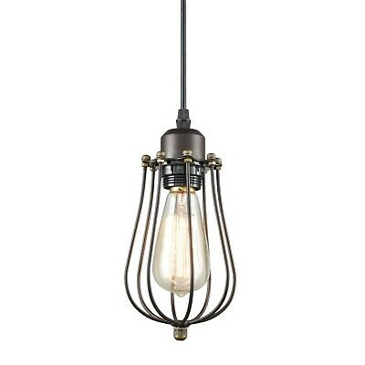 CLAXY Ecopower Vintage Style Industrial Oil Rubbed Bronze Hanging Light Mini ...
