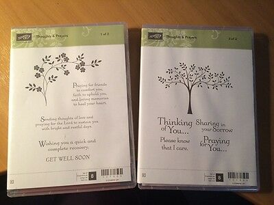 Stampin' up stamp set - Thoughts and prayers - Brand new in box - set of 2