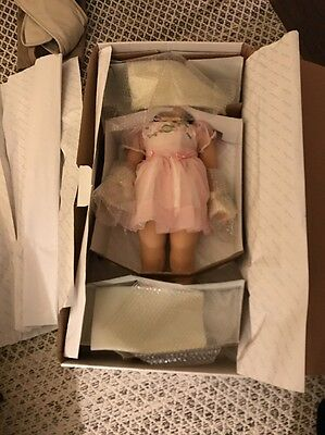 "Shirley Temple Playpal Doll Danbury Mint 33"" Tall with Box And Stand."
