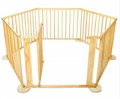 Wooden Baby Playpen Large