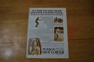 The Playboy Great Gorge Country Club 1979 Playboy Magazine ad - Excellent