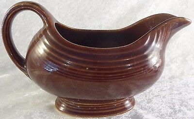 Vintage Fiesta gravy boat with Little f Brown, EUC