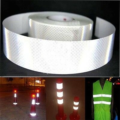 3M Silver Tape Warning Roll Car Film Conspicuity Safety Sticker Reflective