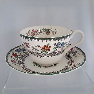 Vintage Spode Teacup Tea Cup Duo Chinese Rose