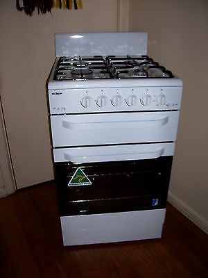 Late Model Chef Upright Natural Gas 540 Wide Stove Grill Oven Vgc.