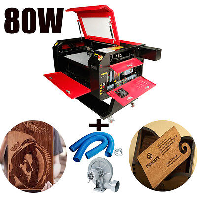 80W CO2 Laser Engraving Cutting Machine Engraver Cutter Wood working/Crafts DSP