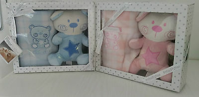 Baby's Teddy Bear and Blanket Gift Set by Pitter Patter