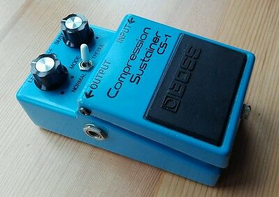Boss CS1 Japan 1980 silver screw Compression Sustainer effects pedal Vintage MIJ