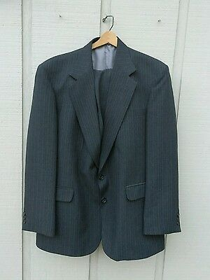 Men's Reed St James  Gray pinstriped 2 Btn suit.Jacket 44, Pants 36X30