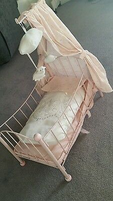 Baby doll cradle doll bed