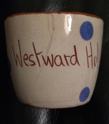 Torquay Pottery Egg Cup Westward Ho! Vintage Kitchenalia