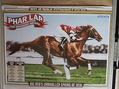 PHAR LAP poster 75th Anniversary Melbourne Cup