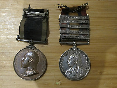 2 x Boer war medals with campaign bars St Johns Ambulance to same receipient