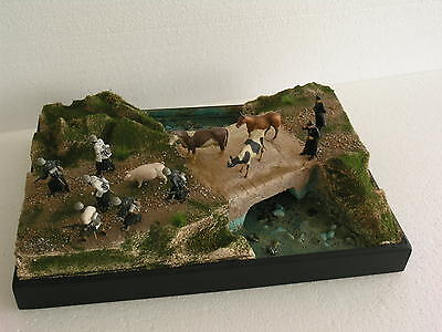 1/35 Built , Painted , Diorama Base -  bridge over the river....