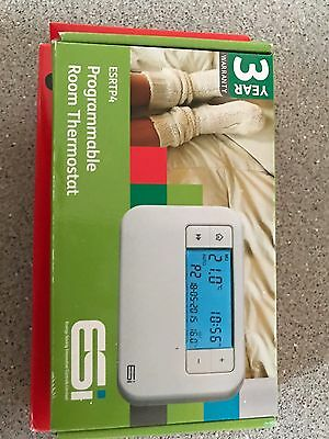 ESI ESRTP4 Programmable Electronic Central Heating Room Thermostat 5°C to 35°C