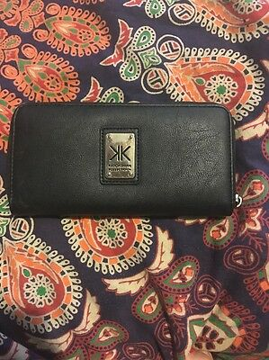 Preowned 100% Authentic Genuine Black Kardashian Kollection Kk Purse Wallet