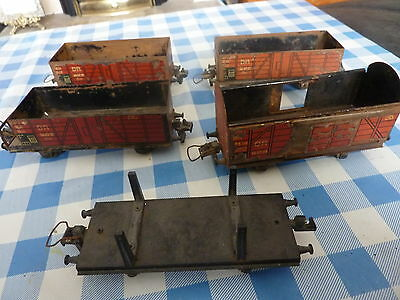 """vintage """"S"""" gauge Trucks/Wagons SCALE 1:64 For spares or Repairs VEB. Germany"""