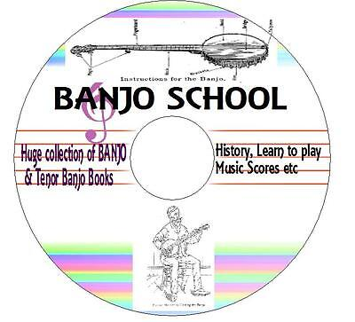 60+ BANJO BOOKS Tenor clawhammer bluegrass Teach yourself  4 5 & 6 String CD