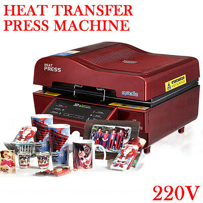 220V 3D Sublimation Heat Transfer Press Machine Printer for Phone Cases Mug Cup