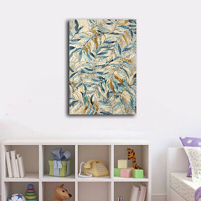 Abstract Leaves Stretched Canvas Print Framed Wall Art Home Decor Painting