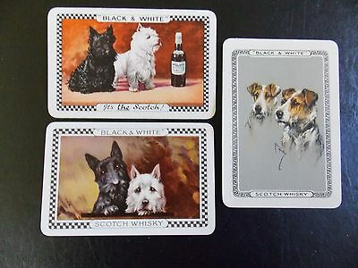 """Swap playing cards x 3 """"Black & White"""" Terrier Dogs"""
