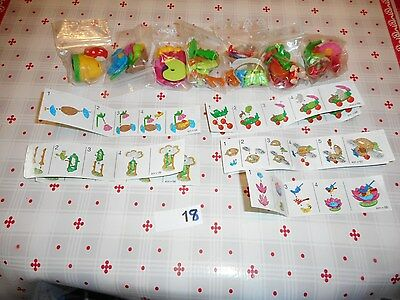 rare kinder ancien: lot decor insecte 2001 + 8 Bpz
