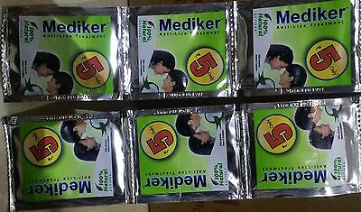 200 X Mediker Anti Lice Treatment Shampoo. 5 ML Pouch. 100% Natural From India