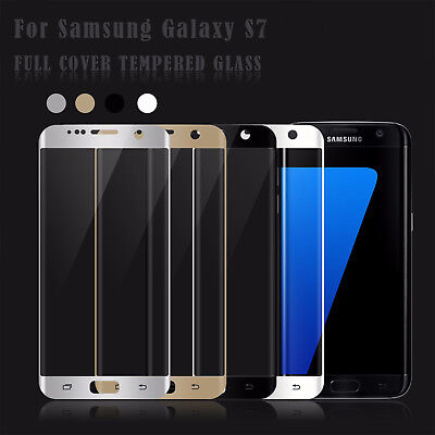 3D Full Coverage Tempered Glass Film Screen Protector For Samsung Galaxy S7