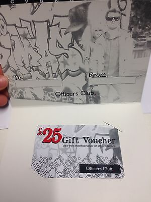 Officers Club Gift Card £25 Value Mens Clothing Voucher