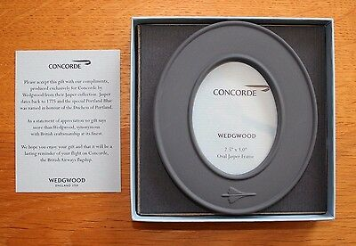 British Airways CONCORDE Oval Picture Frame by Wedgwood