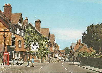 Nostalgic real photo postcard of Lyndhurst in the New Forest