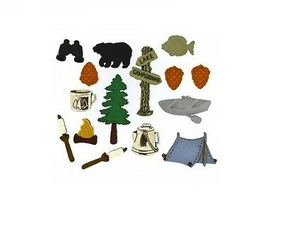 Dress it Up Buttons -Camping