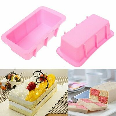 Baking Silicone Muffin Loaf Pan Cup Cake Non-Stick Tray Mould Home Bakeware