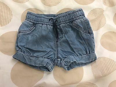 Country Road - Baby Girl's Denim Shorts - Size 18-24 Months