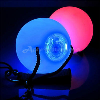 LED Multi-Colours Glow POI Thrown Balls Light up For Belly Dance Hand Props