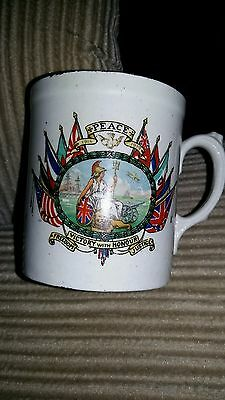 WWI 1914-1919 PEACE Brittania Rules The Waves MUG CUP Ford & Pointon China