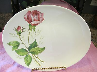 "Vintage Knowles China - Tea Rose - USA - Platter - 13"" x 10"""