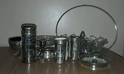Vintage Glass and Silver Plate Job Lot
