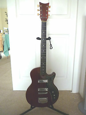 Vintage Kay 6 String Electric Guitar In Les Paul Shape