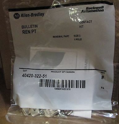 Allen Bradley 40420-322-51 GENUINE OEM contact kit size 2 SEALED NEW STOCK