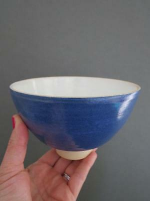 Vintage Pottery Bowl Signed Mid Century