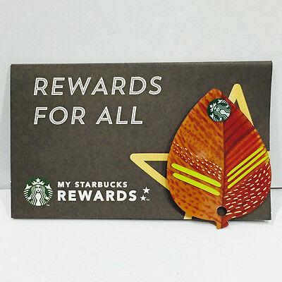 Starbuck Gift Card Rare Leaf Shape Collectible Item Limited 2014 Thailand Only