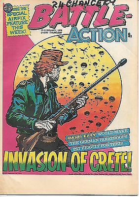 Battle Action 25th Feb 1978 (very high grade) Major Eazy, Dredger, Hellman