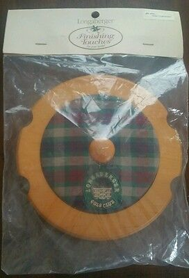 Longaberger 2000 Golf Basket Lid Classic Stain NWT