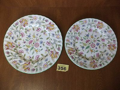 Minton Haddon Hall - Tiered (with holes) Cake Stand Plates - 9 & 10 5/8 Inch